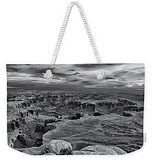 White Rim Overlook Monochrome Weekender Tote Bag