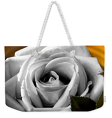 Weekender Tote Bag featuring the photograph White Rose 2 by Richard Ricci