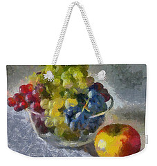 White, Rose And Red Grapes Weekender Tote Bag by Dragica  Micki Fortuna
