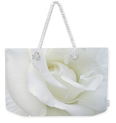 White Rose Angel Wings Weekender Tote Bag