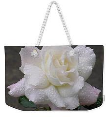 White Rose In Rain - 3 Weekender Tote Bag
