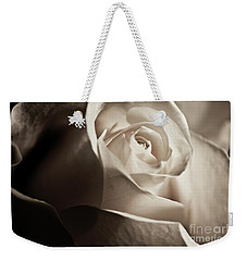 White Rose In Sepia 2 Weekender Tote Bag
