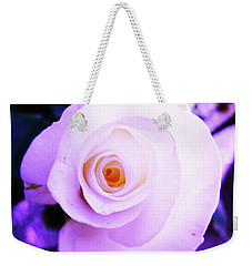 White Rose Weekender Tote Bag by Mary Ellen Frazee