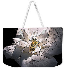 Weekender Tote Bag featuring the photograph White Rose Of Sharon by Richard Ricci