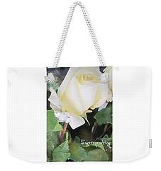 White Rose - Sympathy Card Weekender Tote Bag