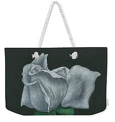 White Rose Weekender Tote Bag by Troy Levesque