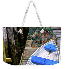 White Rowboat Weekender Tote Bag by Diane Diederich