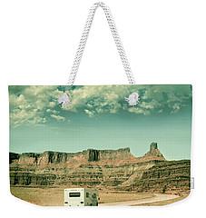 White Rv In Utah Weekender Tote Bag by Jill Battaglia