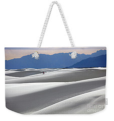 Weekender Tote Bag featuring the photograph White Sands Hikers by Martin Konopacki