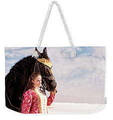 White Sands Horse And Rider #2a Weekender Tote Bag