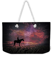 White Sands Horse And Rider #4c Weekender Tote Bag