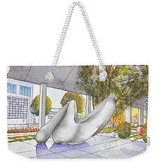 White Sculpture In Santa Monica Blvd., Beverly Hills, California Weekender Tote Bag