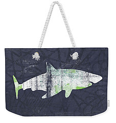 White Shark- Art By Linda Woods Weekender Tote Bag by Linda Woods