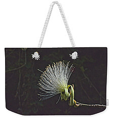 White Shaving Brush Pseudobombax Flower Weekender Tote Bag