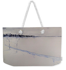 White Shell Lake Winter Weekender Tote Bag