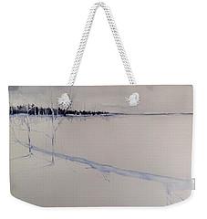 White Shell Lake Winter Weekender Tote Bag