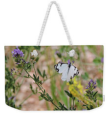 White-skipper On Lupine Weekender Tote Bag