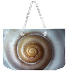 White Snail Shell Weekender Tote Bag by Jaroslaw Blaminsky