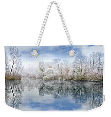 White Space Weekender Tote Bag