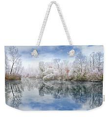 White Space Weekender Tote Bag