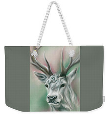 Weekender Tote Bag featuring the pastel White Stag by MM Anderson