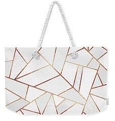 White Stone And Copper Lines Weekender Tote Bag