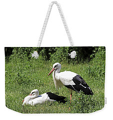 White Storks Weekender Tote Bag by Teresa Zieba