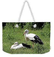 White Storks Weekender Tote Bag