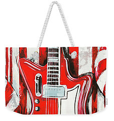 White Stripes Guitar Weekender Tote Bag