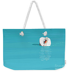 White Swan Blue Lake Weekender Tote Bag
