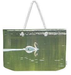 White Swan Silhouette Weekender Tote Bag