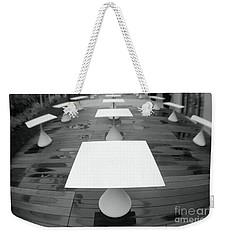 White Tables Weekender Tote Bag