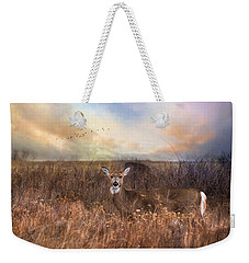 Weekender Tote Bag featuring the photograph White Tail by Robin-lee Vieira