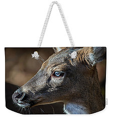 White Tailed Deer Facial Profile Closeup Portrait Weekender Tote Bag
