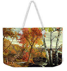 White-tailed Deer In The Poconos Weekender Tote Bag