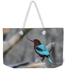 White-throated Kingfisher 02 Weekender Tote Bag