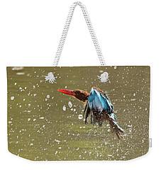 White-throated Kingfisher Weekender Tote Bag