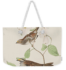 White Throated Sparrow Weekender Tote Bag by John James Audubon