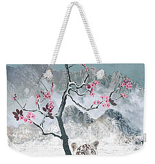 White Tiger And Plum Tree Weekender Tote Bag