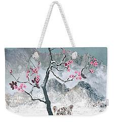 White Tiger And Plum Tree Weekender Tote Bag