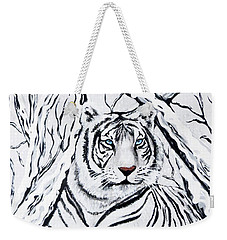 White Tiger Blending In Weekender Tote Bag
