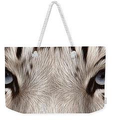 White Tiger Eyes Weekender Tote Bag