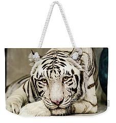 White Tiger Looking At You Weekender Tote Bag