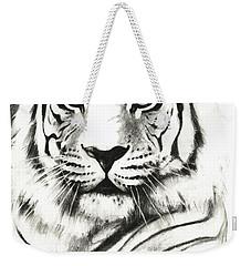 White Tiger Portrait Weekender Tote Bag