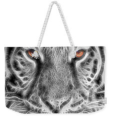 White Tiger Weekender Tote Bag by Tom Mc Nemar