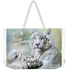 White Tiger Weekender Tote Bag by Trudi Simmonds