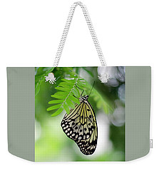 White Tree Nymph Butterfly 2 Weekender Tote Bag