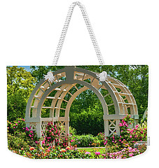 White Trellis Weekender Tote Bag by Trey Foerster