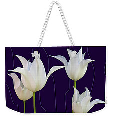 White Tulips For A New Age Weekender Tote Bag