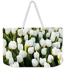 White Tulips In The Garden Weekender Tote Bag